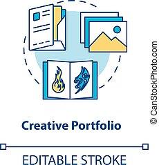 vektor, annons, designer, drawing., färg, illustration., design, skissera, skapande, portfölj, samples., konstverk, slag, arbeten, begrepp, fodra, rgb, editable, idé, tunn, icon., studio, isolerat