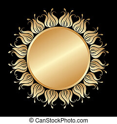 vektor, arany, ornament.