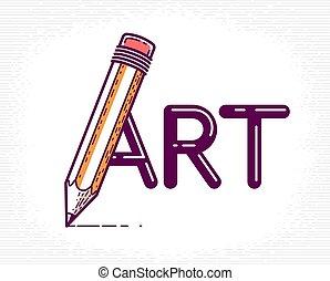 vektor, artist, begreppsmässig, speciell, designer, brev, ...