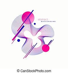 vektor, astract, design.