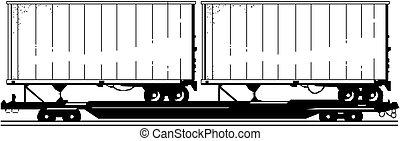 vektor, auslieferung, /, fracht lastwagen
