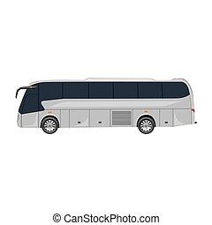 vektor, autóbusz, természetjáró, ábra