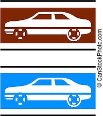 vektor, autók