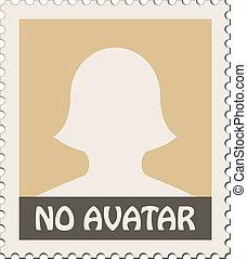 vektor, avatar, női