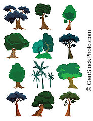 vektor, bäume, abbildung