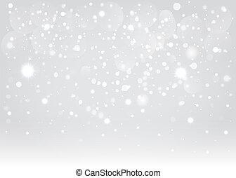 vektor, bakgrund., bokeh, eps10., snö