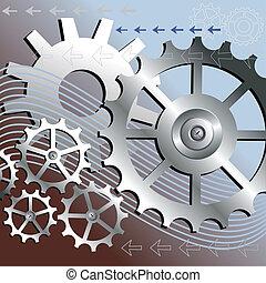 vektor, bakgrund, mekanisk