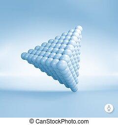 vektor, balls., pyramide, illustration., 3d