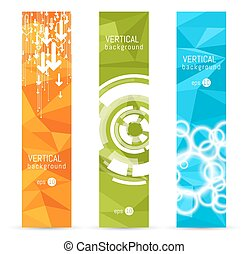 vektor, baner, backgrounds.