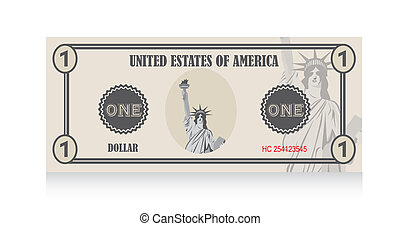 vektor, banknote