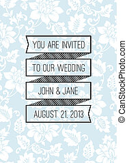 vektor, banner, hintergrund, wedding