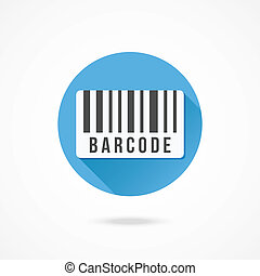 vektor, barcode, ikone