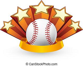vektor, baseball, emblem