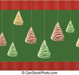vektor, baum., grün, weihnachten, hintergrund