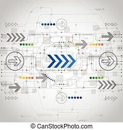 vektor, begreb, abstrakt, baggrund, fremtid, teknologi