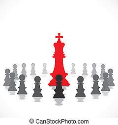 vektor, begrepp, ledarskap, block