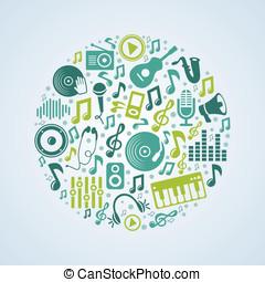 vektor, begrepp, musik