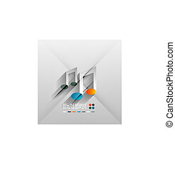vektor, begrepp, papper, musik, design, 3