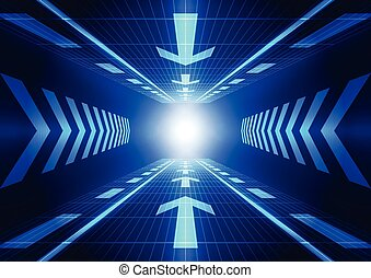 vektor, begriff, abstrakt, abbildung, hintergrund, zukunft, technologie