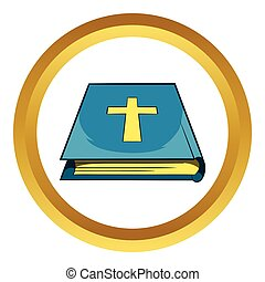 vektor, biblia, könyv, ikon
