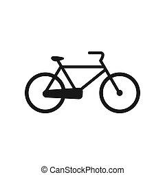 vektor, bicikli, ábra, ikon