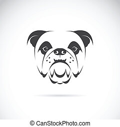 vektor, bild, gesicht, (bulldog), hund