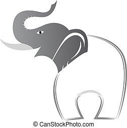 vektor, bild, von, ein, elefant