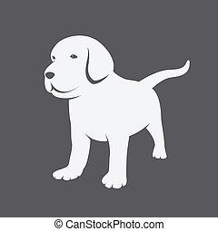 vektor, bild, von, ein, labrador, hundebabys