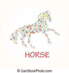 vektor, bild, von, ein, pferd