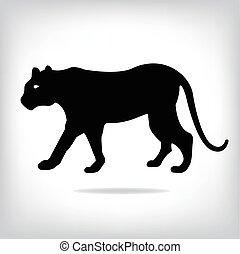 vektor, bild, von, ein, tiger