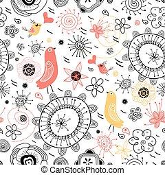 vektor birds swirling patterns