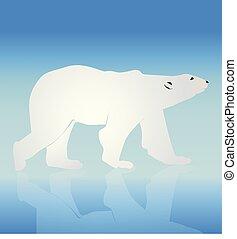 vektor, björn, silhuett, logo