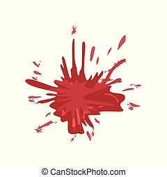 vektor, bläck, illustration, plaska, blod, bakgrund, fläck, vit röd