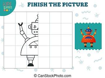 vektor, blank, komplet, kopi, boldspil, billede, illustration