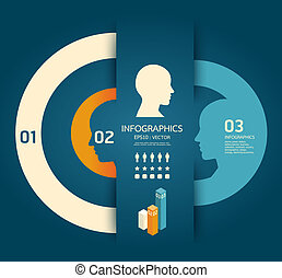 vektor, bleistift, schablone, kreativ, infographics, /, abbildung, begriff