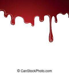 vektor, blod, flytande