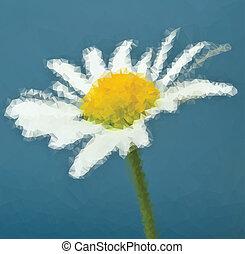 vektor, blomma, illustration