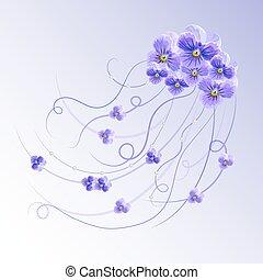 vektor, blommig, bakgrund.