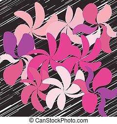 vektor, blomst, baggrund