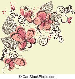 vektor, blomster