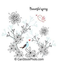 vektor blooming spring