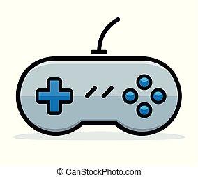 vektor, boldspil, begreb, konstruktion, controller