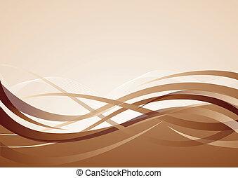 vektor, brun fond