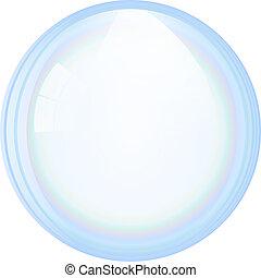 vektor, bubbla, tvål