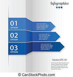 vektor, business osvětlení, infographics