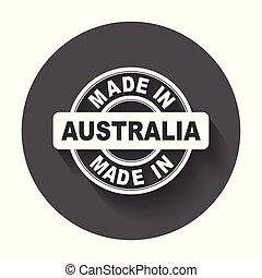 vektor, byt, australia., udělal, symbol