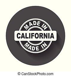 vektor, byt, udělal, symbol, california.