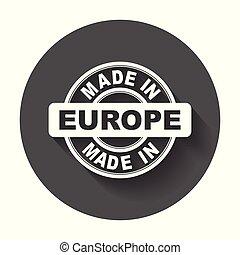 vektor, byt, udělal, symbol, europe.
