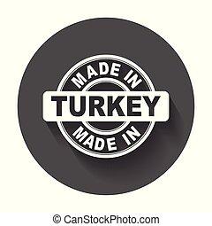 vektor, byt, udělal, symbol, turkey.