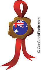 vektor, címke, közül, ausztrália